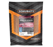 sonubaits stiki method pellets krill & squid 2mm