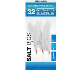 spro 32 feather white silver makreel paternoster