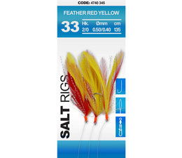 spro 33 feather red yellow makreel paternoster