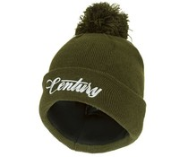 century green bobble beanie