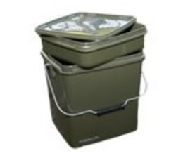 trakker olive square container 13 liter (inclusief tray)