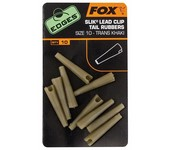 fox edges slik lead clip tail rubbers khaki