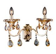 Goudkleurige wandlamp 2-lichts - Zakhrifa