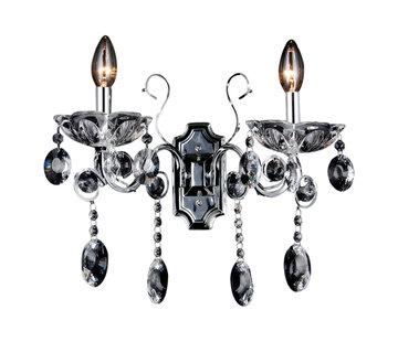 Wandlamp Daqiq 2-lichts chroom