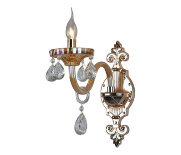 Wandlamp goudkleurig 1-lichts - Birashaqa
