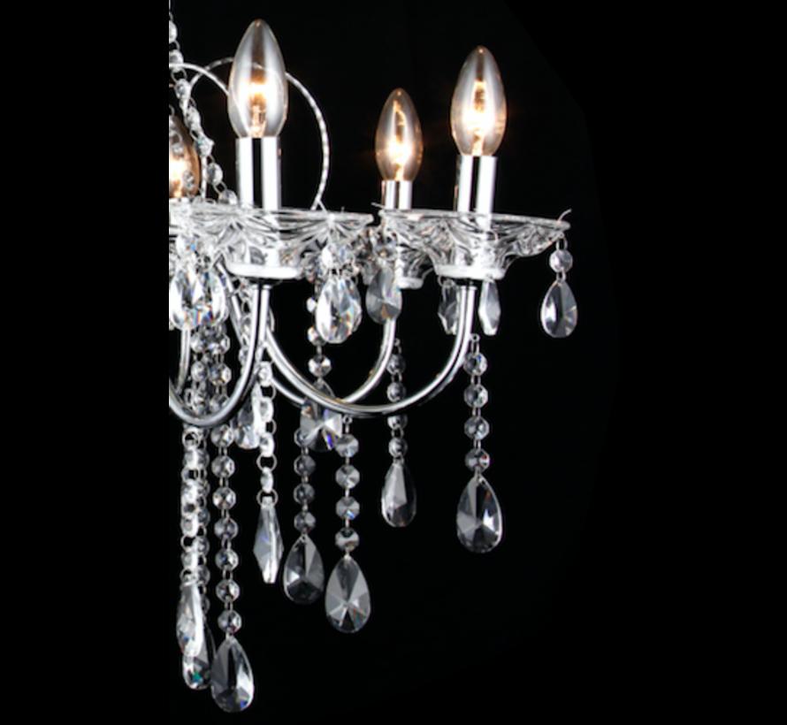 Kharz, subtiel gestylede kroonluchters met stijlvolle glaskralen