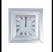 Tidlos Mirror - Klok - Stil Uurwerk - 50 x 50 cm - Vierkant - Spiegelglas