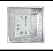 Bessala Mirror - Klok - Stil Uurwerk - 50 x 50 cm - Vierkant - Spiegelglas