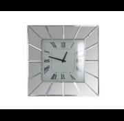 Della Mirror - Klok - Stil Uurwerk - 50 x 50 cm - Vierkant - Spiegelglas