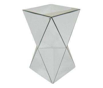Bijzettafel klein Spiegelglas 32 x 53 cm