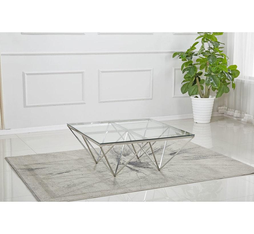 Salontafel Pera Zilver 100 x 100 cm