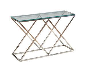 Sidetable Gehard Glas.Sidetable Dressoir Idol Zilver 120 X 40 X 78 Cm