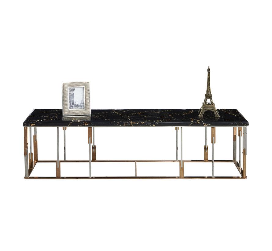 TV-Meubel Cavalli Zwart Marmer 160 x 40 cm