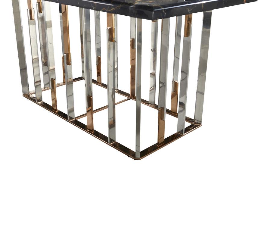 Eettafel Cavalli Zwart Marmer 160 x 90 cm