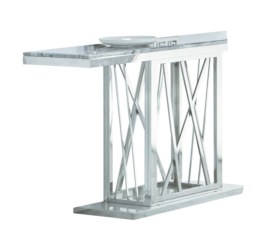 Sidetable / Dressoir Aspen Zilver 140 x 40 x 75 cm