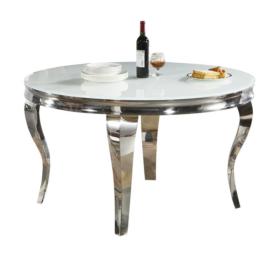 Eettafel Polo Rond Zilver 130 cm