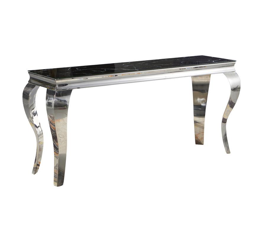 Sidetable / Dressoir Polo Zwart Marmer 140 x 75 cm