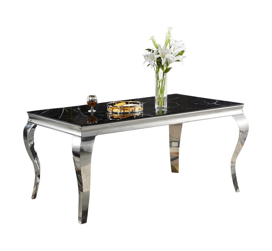 Eettafel Polo Zwart Marmer 160 x 90 cm