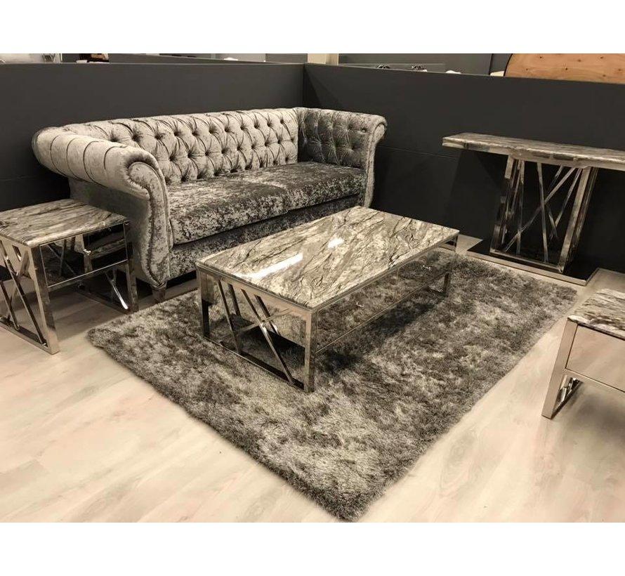 Eettafel Aspen Zilver 160 x 90 cm