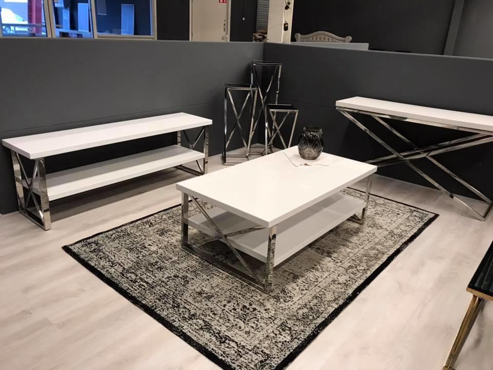 Wit Tv Meubel 90 Cm.Eettafel Met Een Witte Mdf Tafelblad Kopen Bekijk Deze Snel Op
