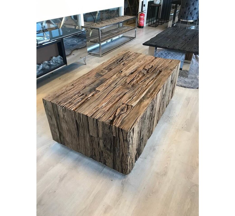 Blok Salontafel Sleeper Wood 100 x 100 cm