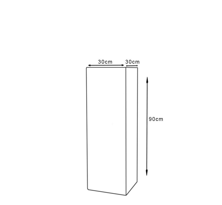 Sokkel - Zuil Antraciet 30 x 90 cm