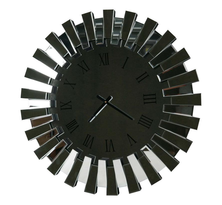 Piano Spiegel Wandklok - Rond - Stil Uurwerk