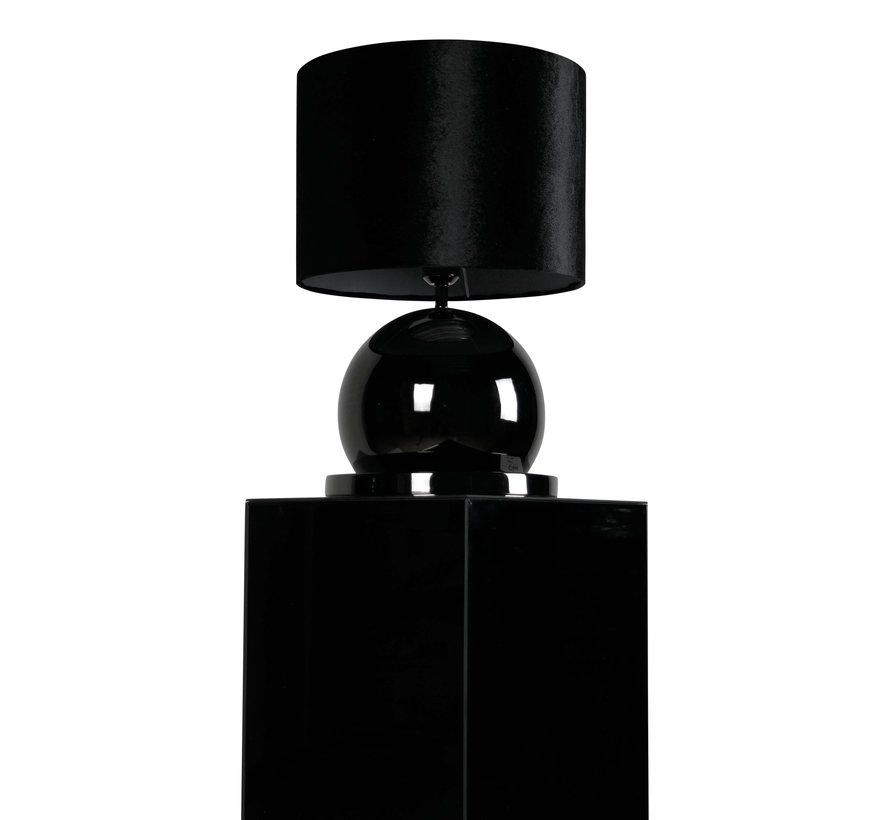 Bollamp - Antraciet - Tafellamp - 1 Bol - Ronde Voet