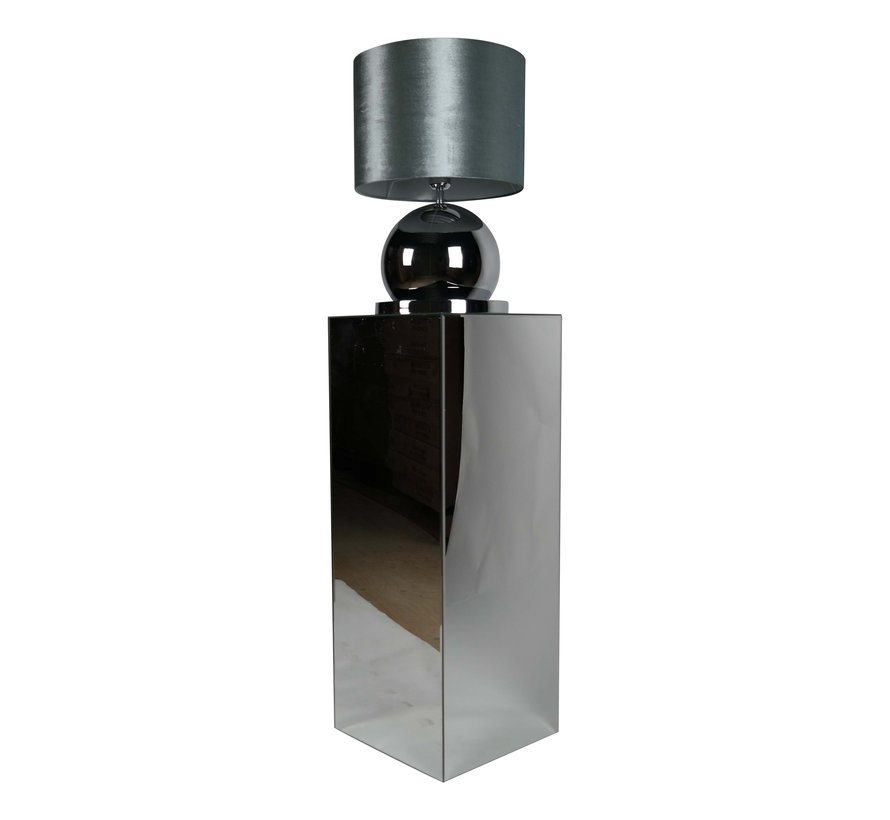 Bollamp - Zilver - Tafellamp - 1 Bol - Ronde Voet