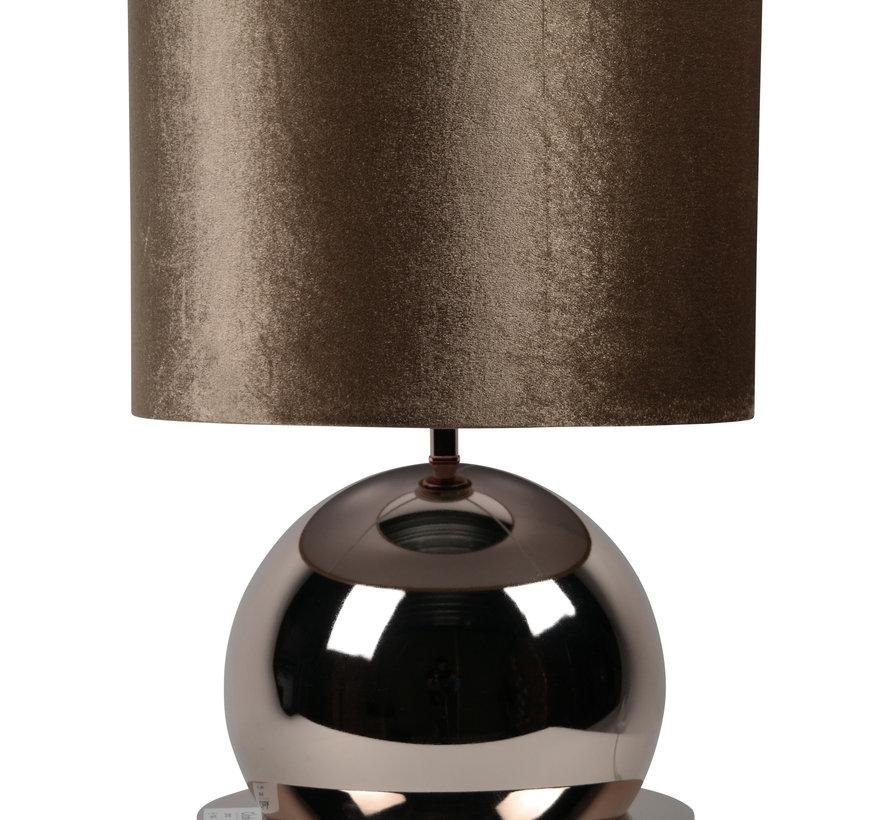 Bollamp - Brons - Tafellamp - 1 Bol - Ronde Voet