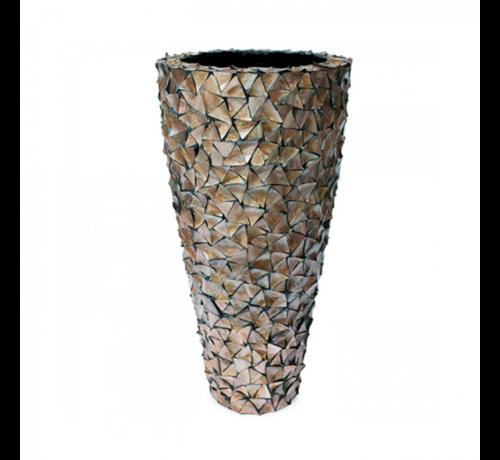 Pot Mother of Pearl D74 H140 - Bruin - Schelpenvaas