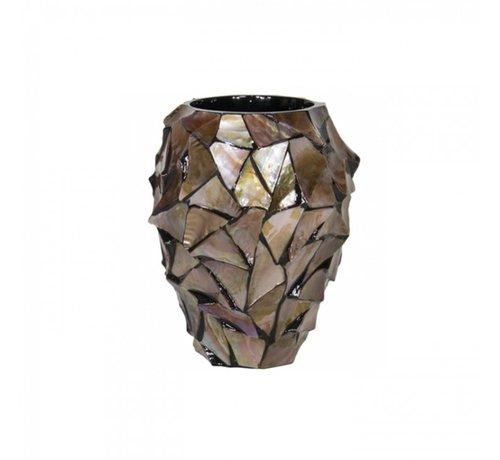 Pot Mother of Pearl D17 H24 - Bruin - Schelpenvaas