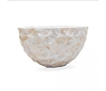 Pot Mother of Pearl L35 B80 H40 cm - Creme - Schelpenvaas