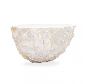 Pot Mother of Pearl L26 B60 H30 cm - Creme - Schelpenvaas