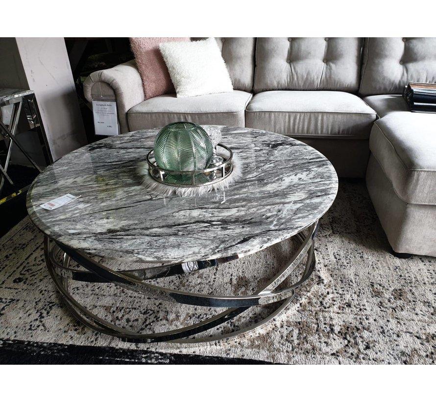 Salontafel Calvin Goud / Transparant bovenblad