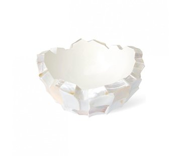 Bowl Mother of Pearl L60 B60 H33 cm - Creme - Schelpenvaas