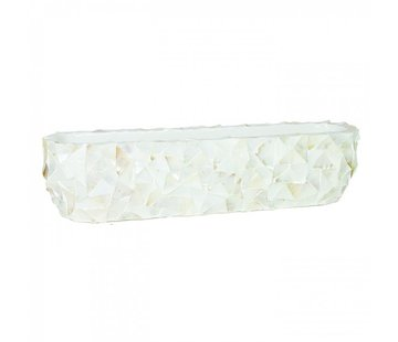 Schuit Mother of Pearl L20 B90 H20 cm - Creme - Schelpenvaas