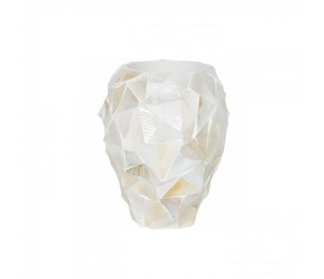Pot Mother of Pearl D17 H24 - Creme - Schelpenvaas