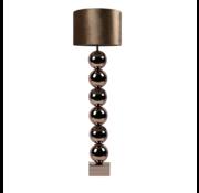 Bollamp - Brons - Vloerlamp - Vierkante voet