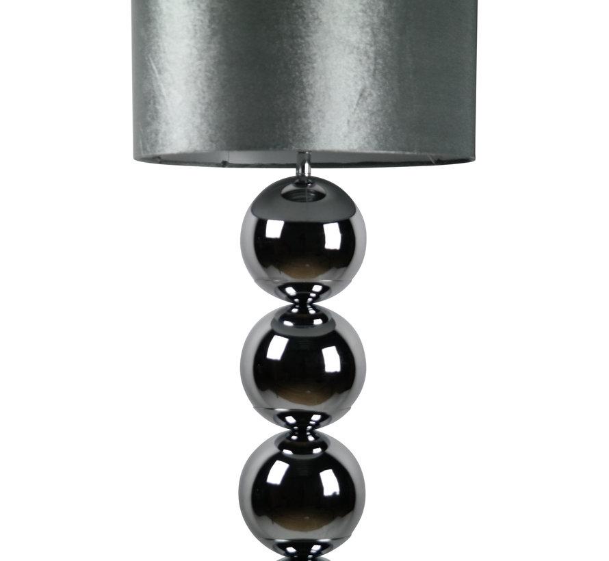 Bollenlamp - Zilver - Vloerlamp - Vierkante voet