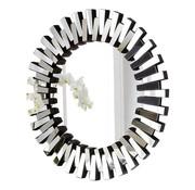 Piano Spiegel - Rond - 100 cm - Spiegelglas