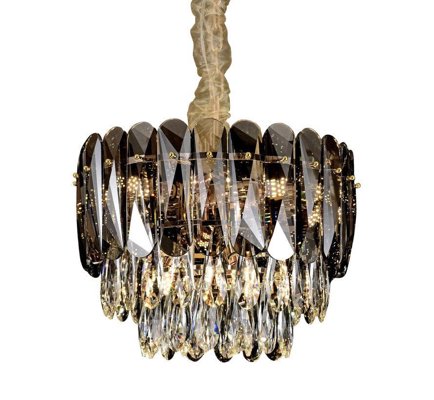 Hanglamp Emilio ovaal 100 cm - Dark Brown