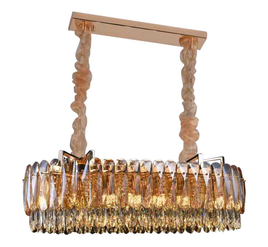 Hanglamp Emilia ovaal 100 cm - Goud