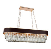 Hanglamp Alonzo Ovaal - Brown Gold / Clear