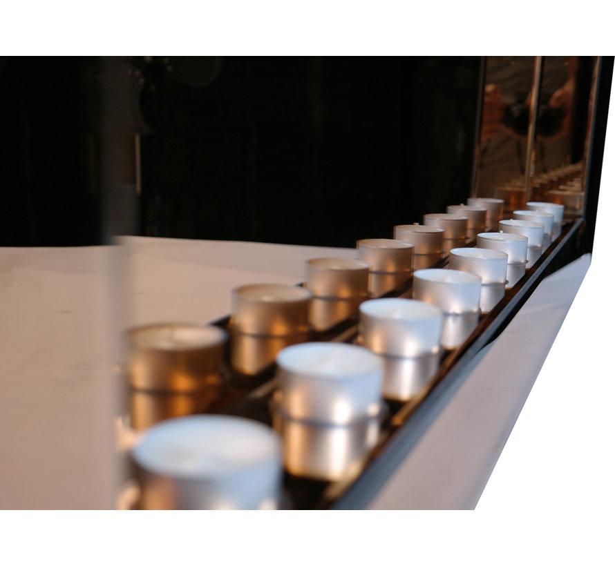 Sfeerhaard Waxinelichtjes Spiegel 9 lichts Antraciet - Eric Kuster Stijl