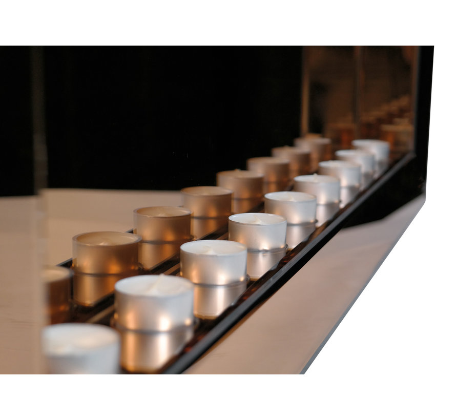 Sfeerhaard Waxinelichtjes Spiegel Zilver 9 lichts - Eric Kuster Stijl