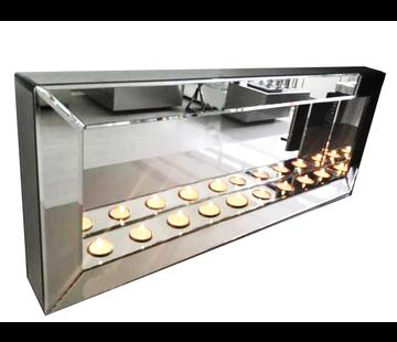 Sfeerhaard Waxinelichtjes Spiegel Zilver - 9 lichts