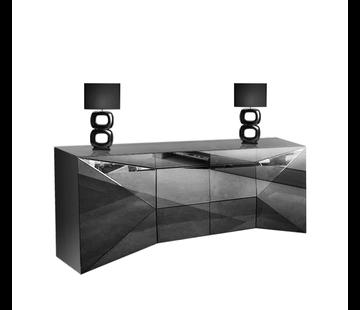 Dressoir London Spiegelglas - Antraciet