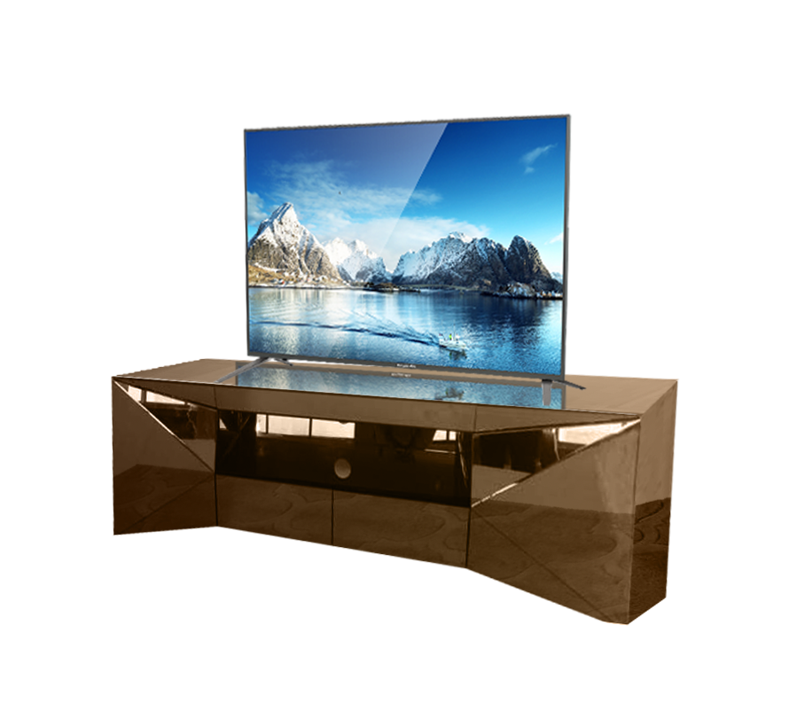 Tv-meubel London Spiegelglas - Sepia