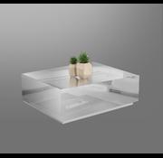 Bloktafel Spiegel Zilver Oslo